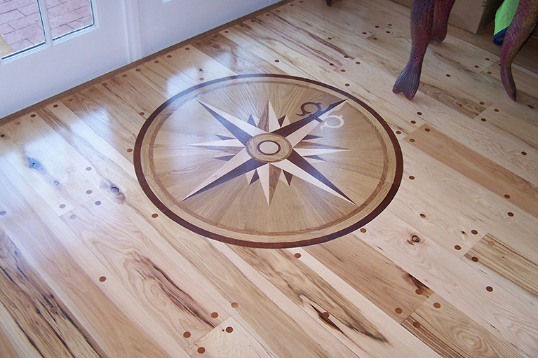 Hardwood Floor Inlays hardwood flooring staining inlay Custom Inlay